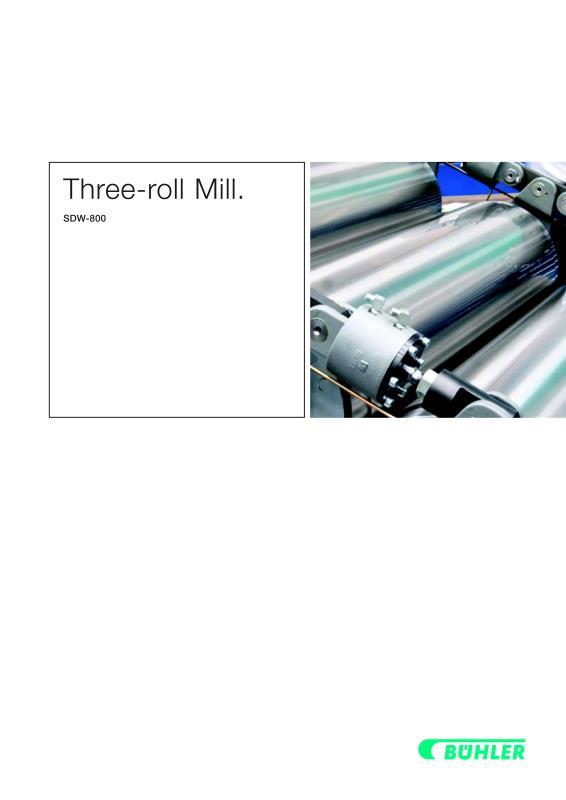 Three Roller Mill Hydraulic-Bühler AG