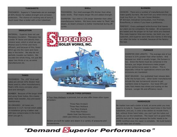 Apache 2Pass Dryback Firetube BoilerSUPERIOR BOILER WORKS INC