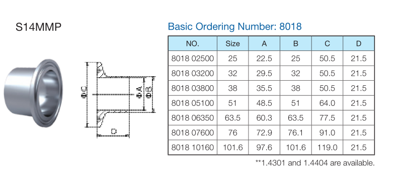 Clamp union iso sms sanitary fittings p e flow