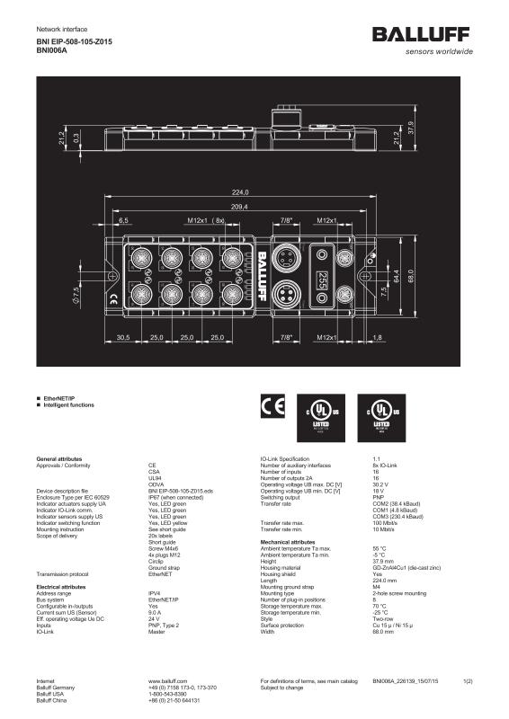 Network interface BNI006A-Balluff Inc. on danfoss wiring diagram, bendix wiring diagram, dayton wiring diagram, bourns wiring diagram, amphenol wiring diagram, atlas copco wiring diagram, square d wiring diagram, smc wiring diagram, siemens wiring diagram, enerpac wiring diagram, panasonic wiring diagram, general electric wiring diagram, fisher wiring diagram, mitsubishi wiring diagram, toshiba wiring diagram, emerson wiring diagram, bosch wiring diagram, alpha wiring diagram, durant wiring diagram, sony wiring diagram,