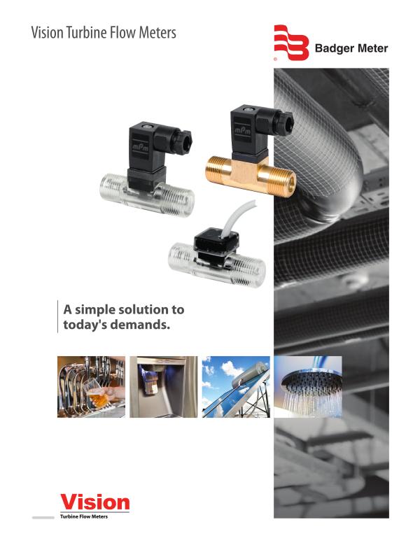 Vision Turbine Flow Meter-Badger Meter, Inc