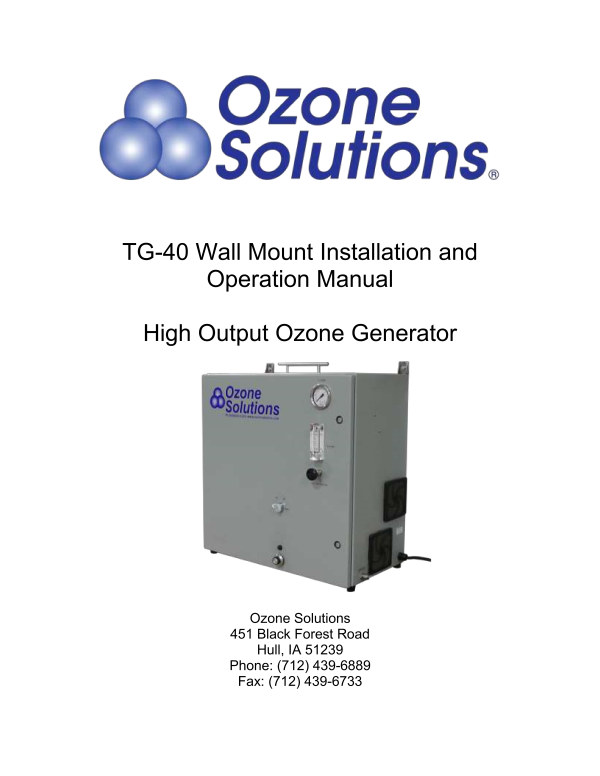 TG-Ozone Solutions