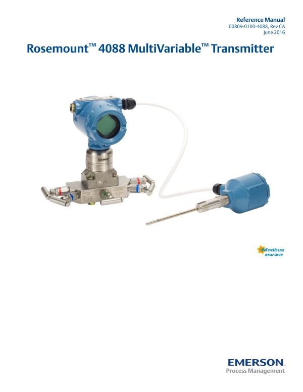 Rosemount 4088A MultiVariable Transmitter-Emerson Process