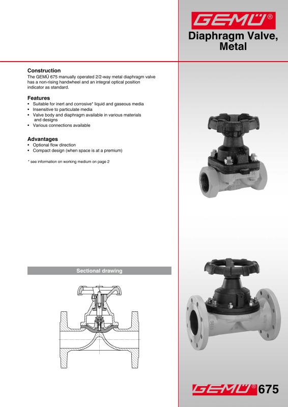 Gemu valves measurement and control systems gem gebrder mller gemu 675 diaphragm valve data sheetpdf ccuart Image collections